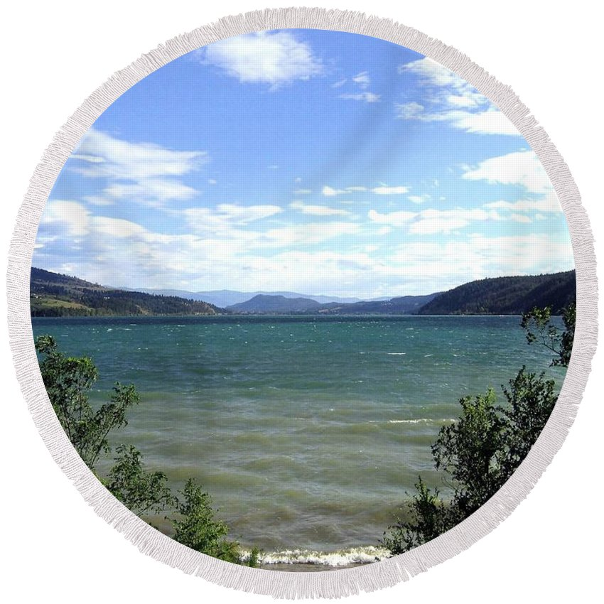 Wood Lake Round Beach Towel featuring the photograph Wood Lake In Summer by Will Borden