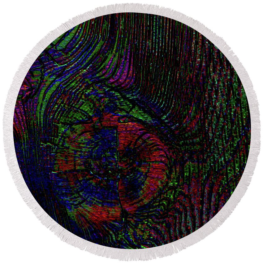 Wood Round Beach Towel featuring the digital art Wood Thoughts by Diane Parnell