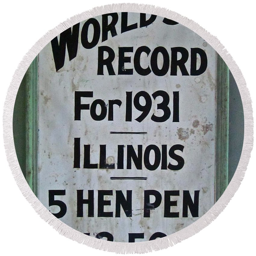 Photograph Round Beach Towel featuring the photograph World's Record by Gwyn Newcombe
