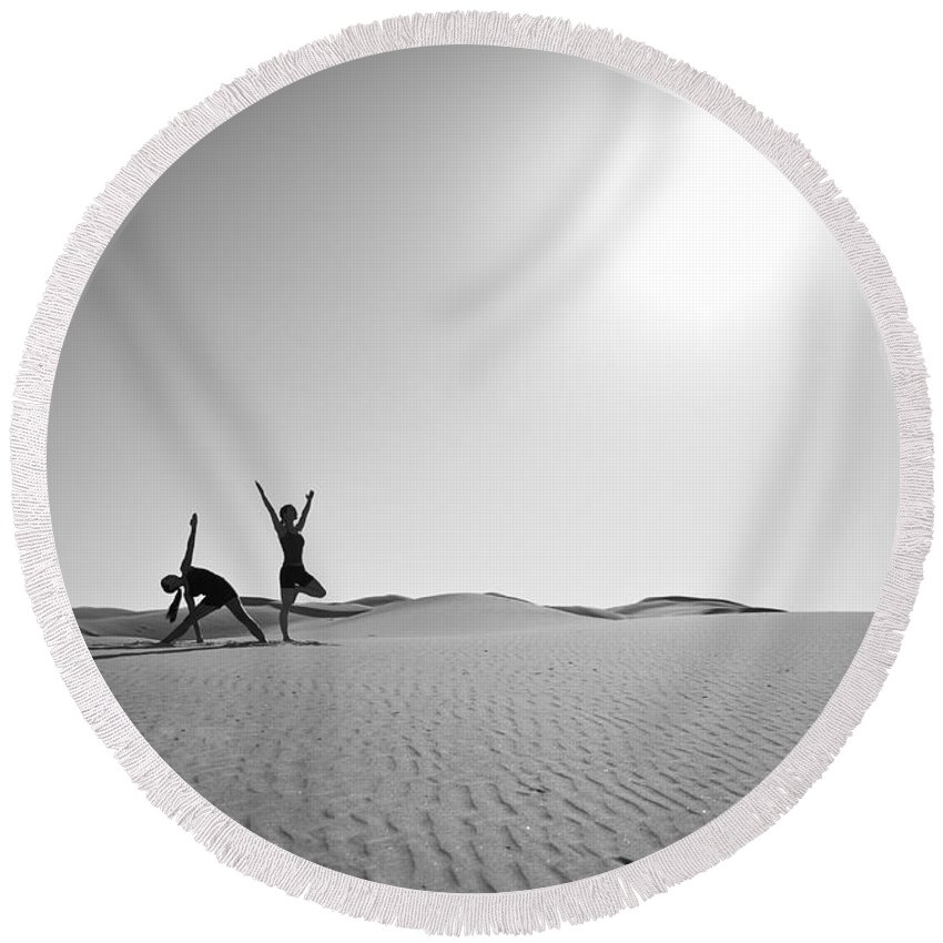 Yoga Round Beach Towel featuring the photograph Yoga Landscape by Scott Sawyer