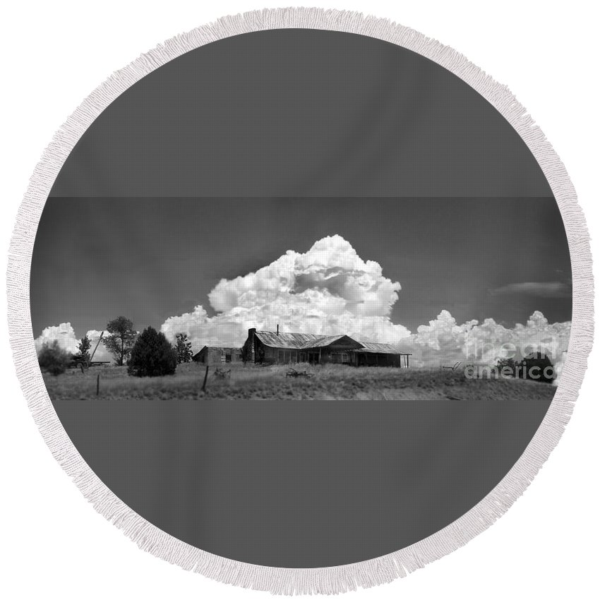 Young Round Beach Towel featuring the photograph Young Az 1 by Paolo Govoni