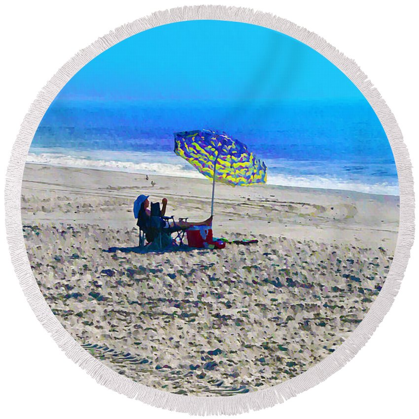 Beach Round Beach Towel featuring the photograph Your Own Private Beach by Bill Cannon