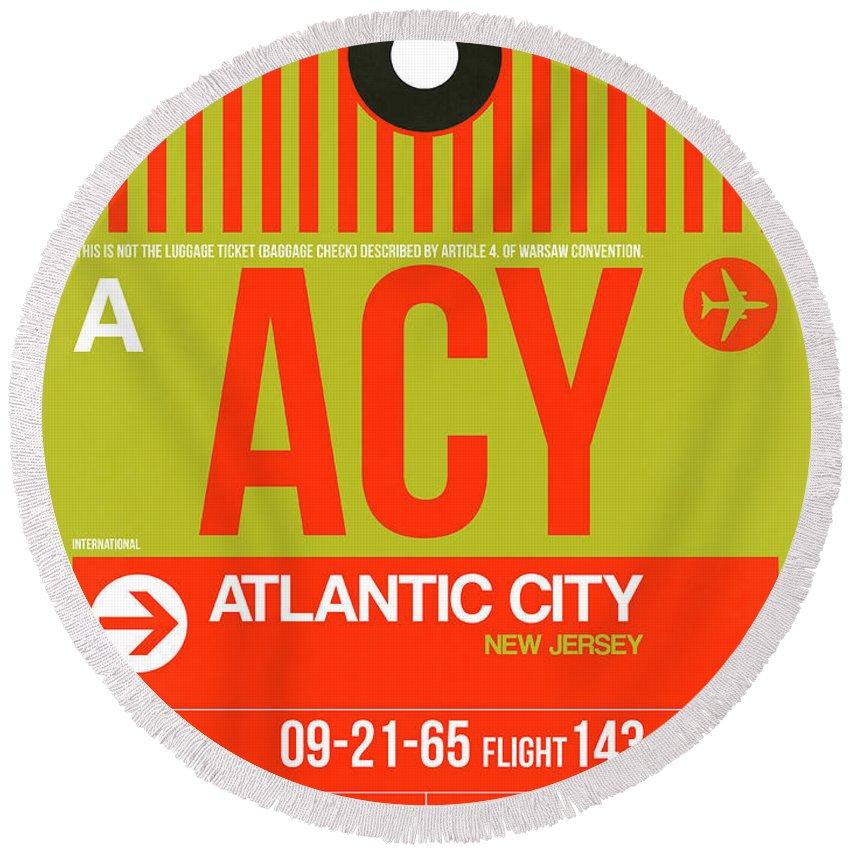 Atlantic Digital Art Round Beach Towels