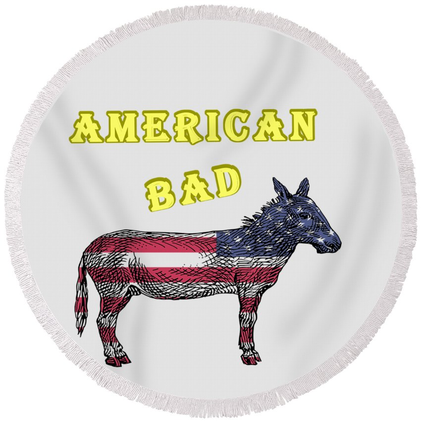 American Round Beach Towels
