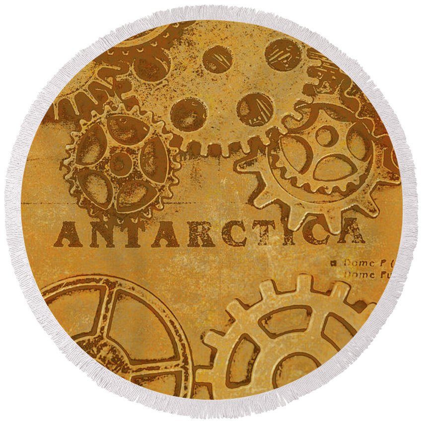 Ancient Round Beach Towel featuring the photograph Antarctech by Jorgo Photography - Wall Art Gallery