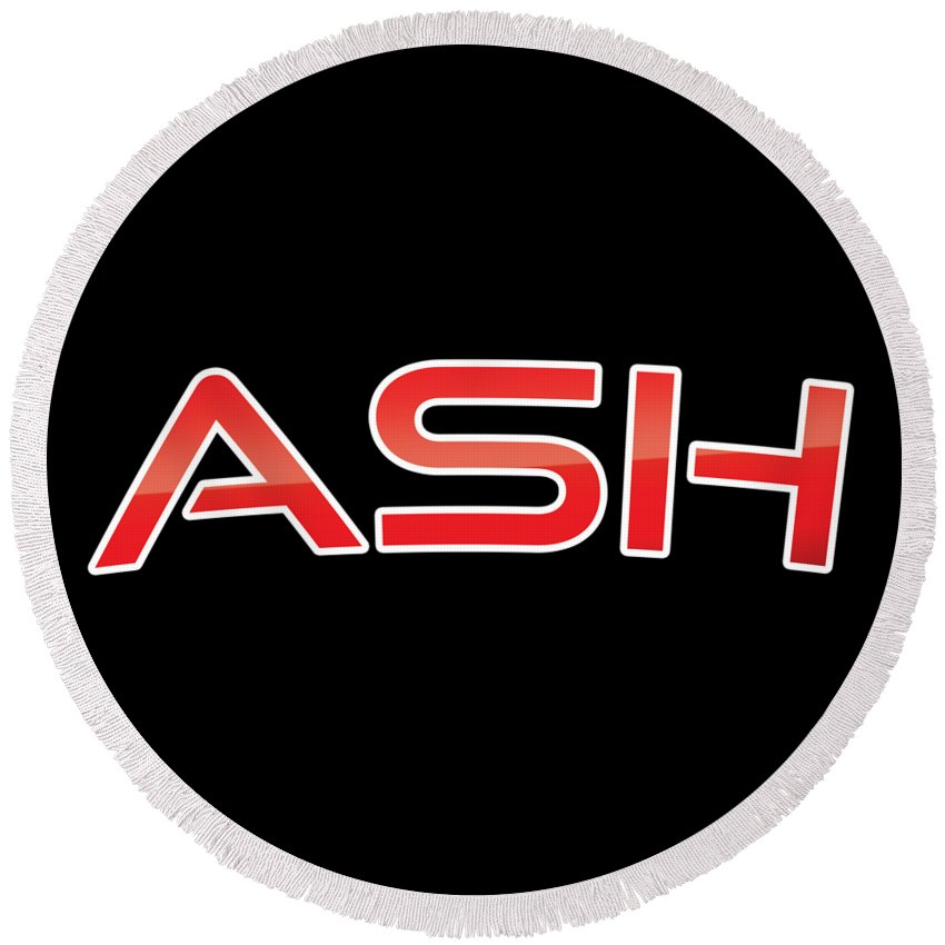 Ash Round Beach Towel featuring the digital art Ash by TintoDesigns