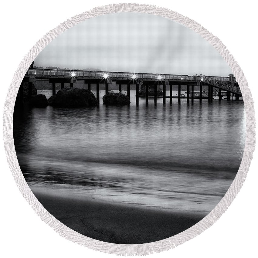 California Round Beach Towel featuring the photograph Before The Light by Marnie Patchett