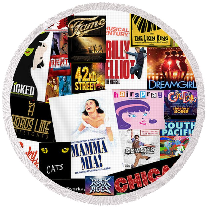 Broadway Round Beach Towel featuring the photograph Broadway 22 by Andrew Fare