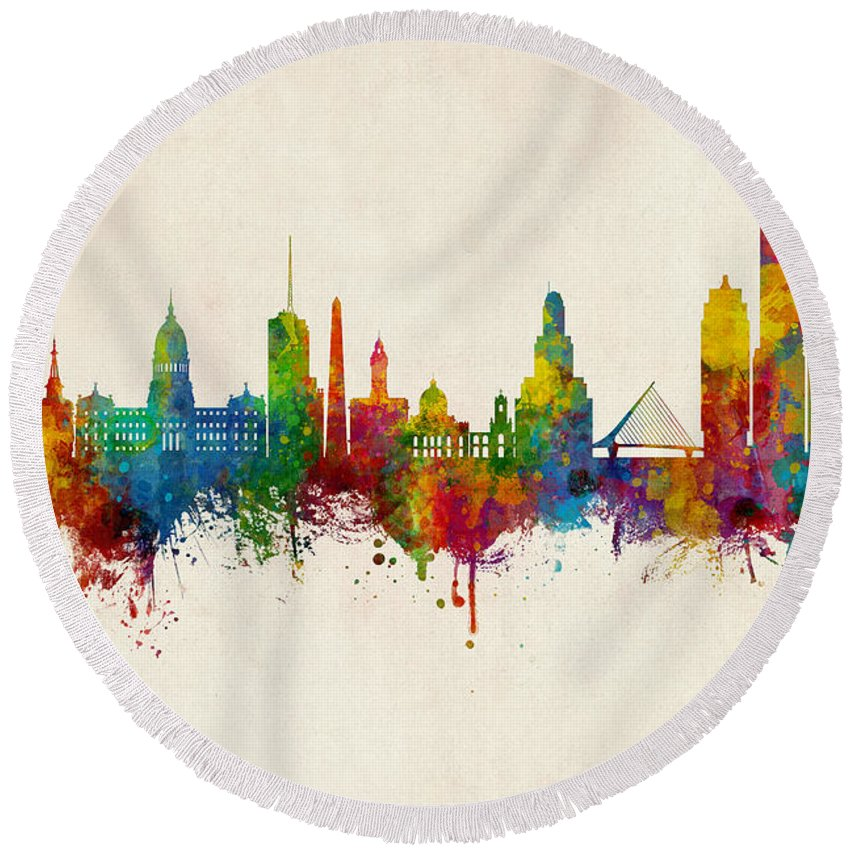 Aire Round Beach Towels