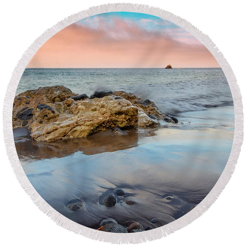 Channel Round Beach Towel featuring the photograph Channel Islands National Park Vii by Ricky Barnard
