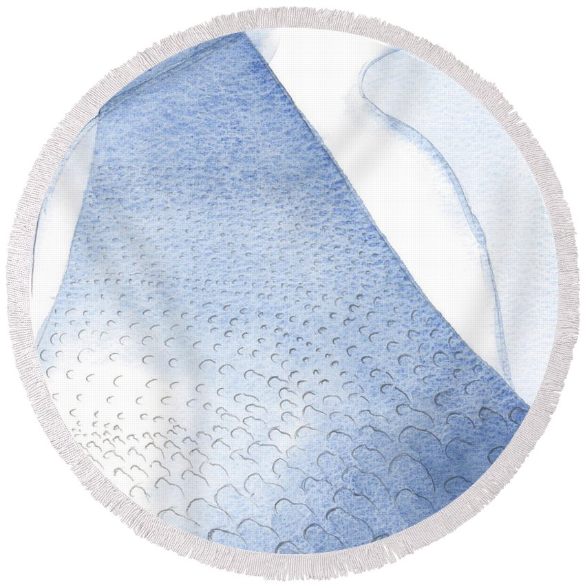Light Round Beach Towel featuring the painting Christs Light And Radiance Are Poured Unto Our Hearts by Elizabeth Wang