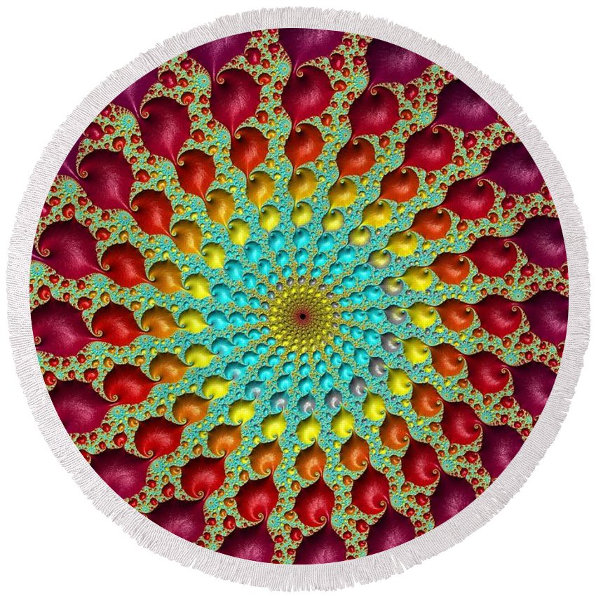 Frax Round Beach Towel featuring the photograph Close The Circle. by Minnetta Heidbrink