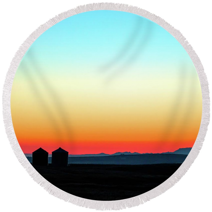 Colorful Round Beach Towel featuring the photograph Colorful Sunrise by Todd Klassy
