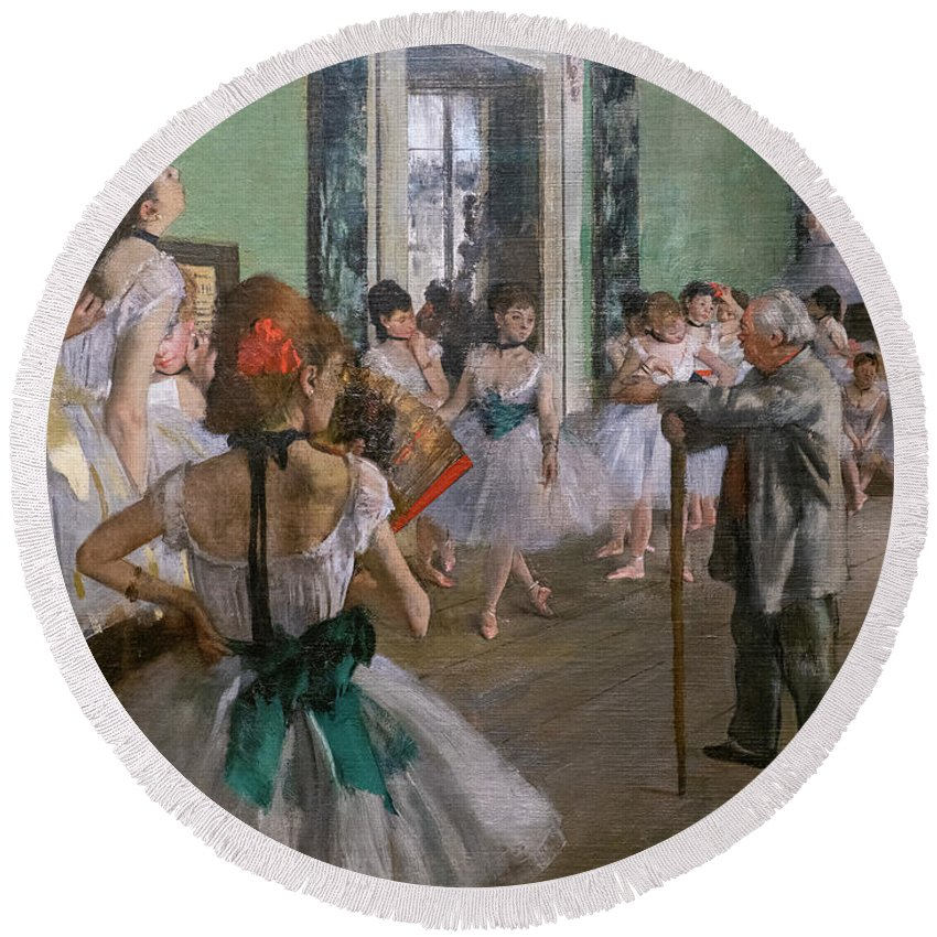 Dance Round Beach Towel featuring the painting Degas, The Dance Class Detail by Edgar Degas