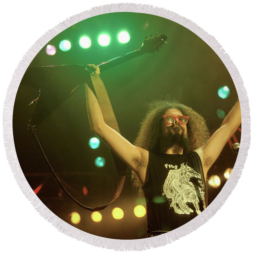 Live In Concert Photographs Round Beach Towels