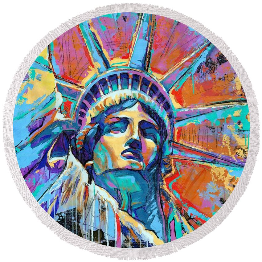 Liberty Round Beach Towels