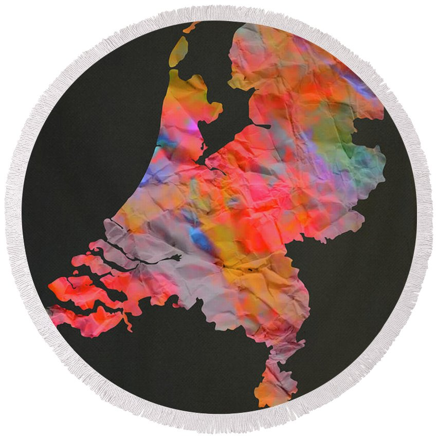 Designs Similar to Netherlands Tie Dye Country Map