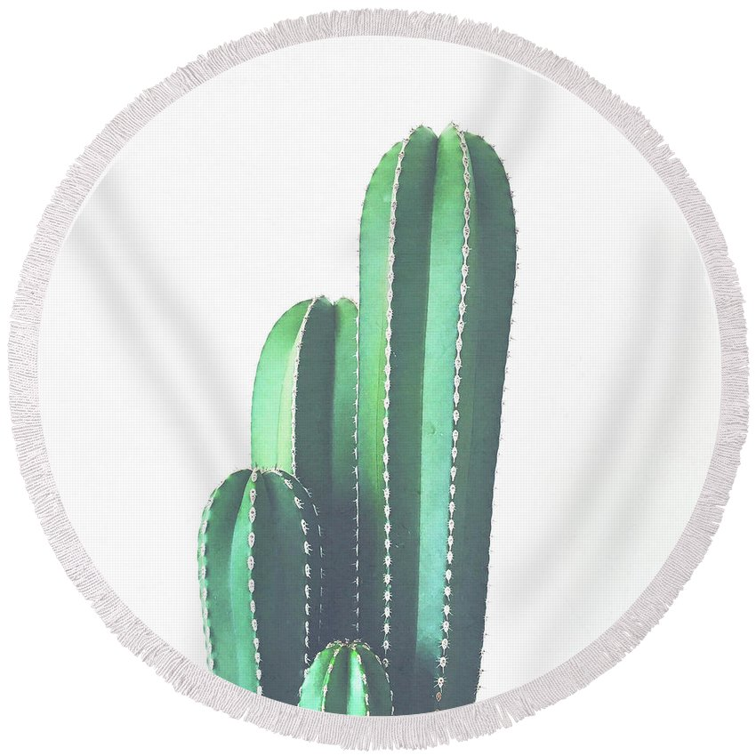 Cactus Round Beach Towel featuring the photograph Organ Pipe Cactus by Cassia Beck