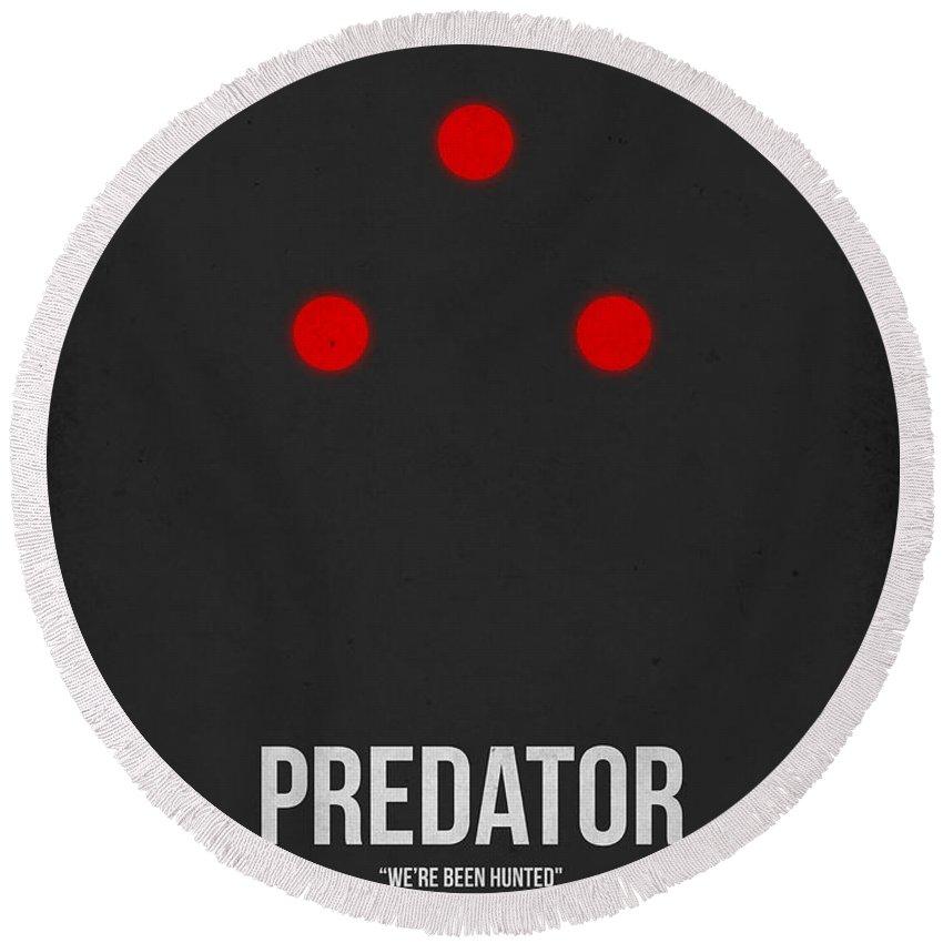 Predator Round Beach Towel featuring the digital art Predator by Naxart Studio
