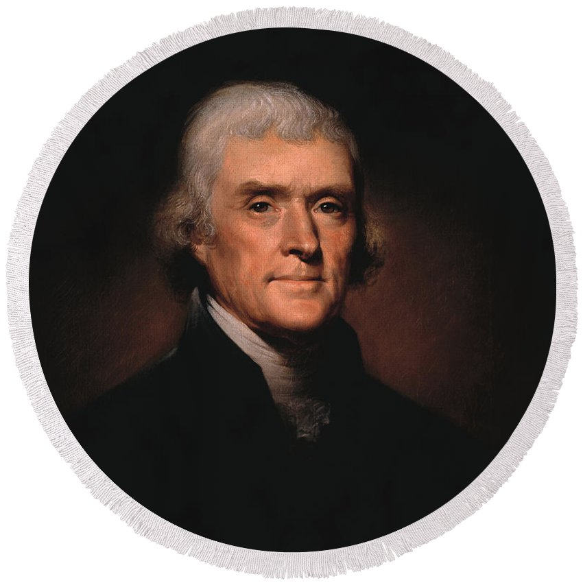 Founding Father Round Beach Towels