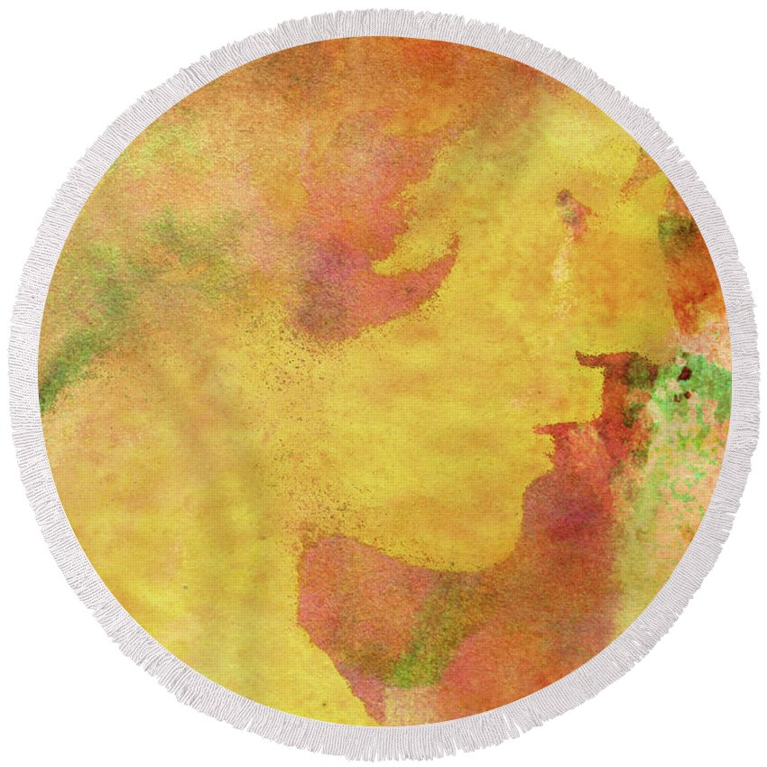 Shades Of You Round Beach Towel featuring the digital art Shades of You by Kenneth Rougeau