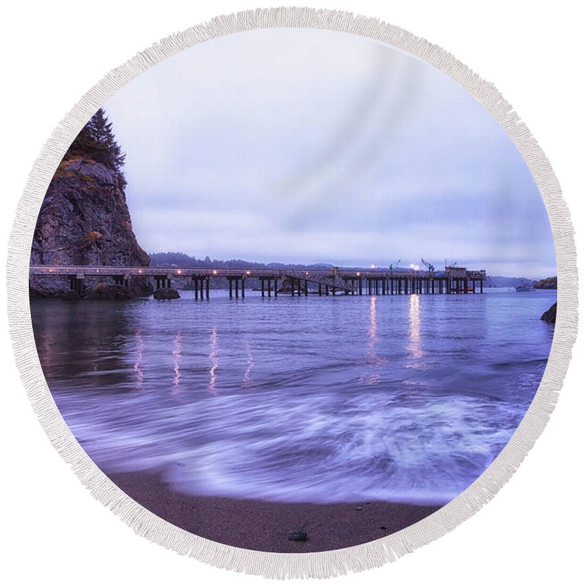 California Round Beach Towel featuring the photograph Soaking It All In by Marnie Patchett