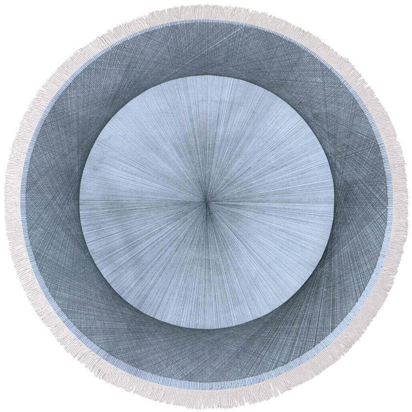 Perfect Round Beach Towel featuring the drawing Circles do not exist by Jason Padgett