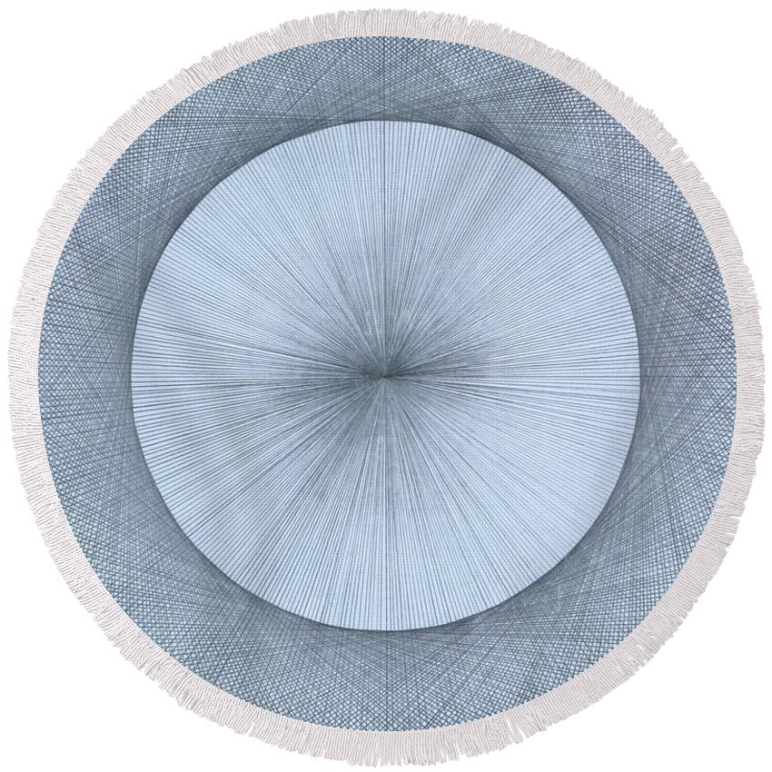 Circle Round Beach Towel featuring the drawing Circles do not exist one degree by Jason Padgett