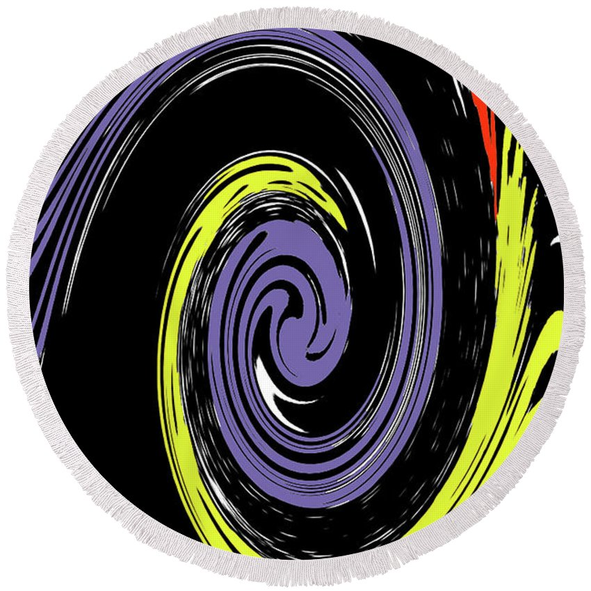 Abstract Round Beach Towel featuring the photograph Colorful Swirl by Holly Morris
