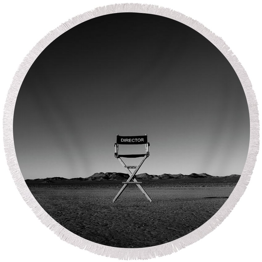 Round Beach Towel featuring the photograph Director's Cut by Brendan North