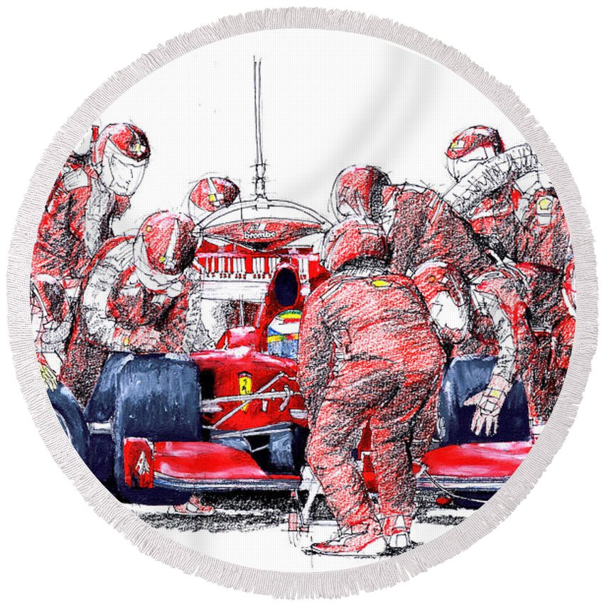 Ferrari Round Beach Towels