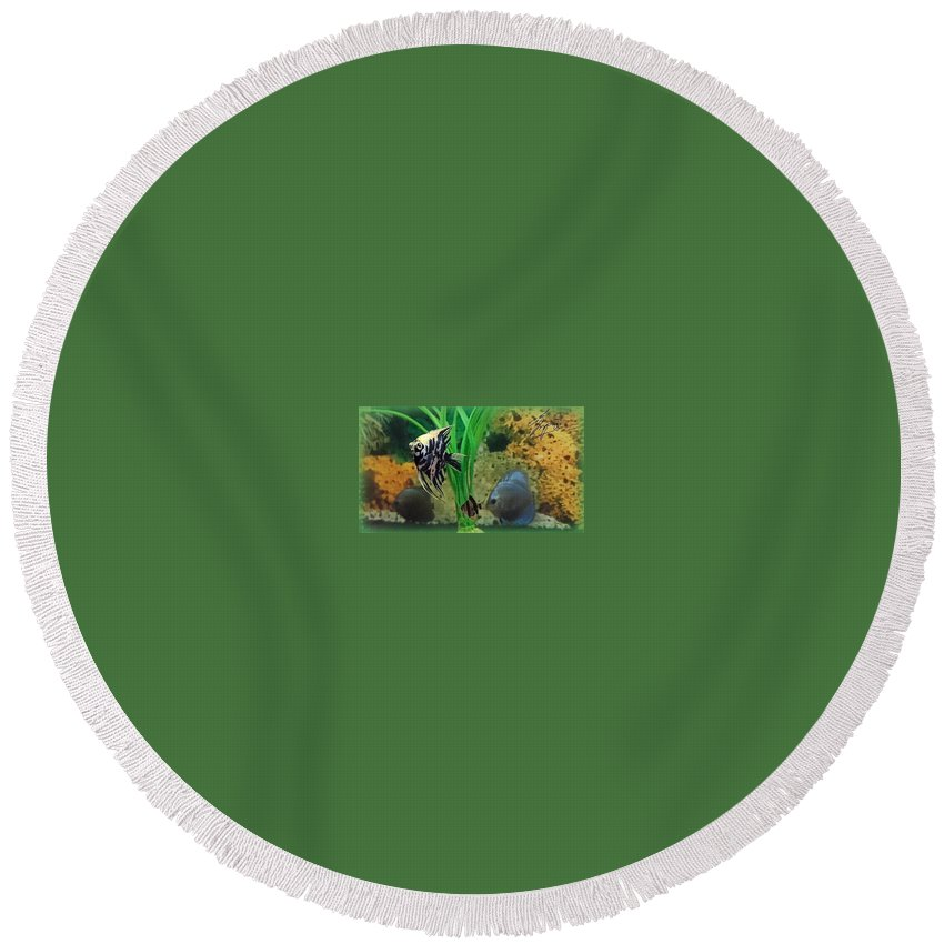 Round Beach Towel featuring the photograph Fish by Andrei Bin Ay