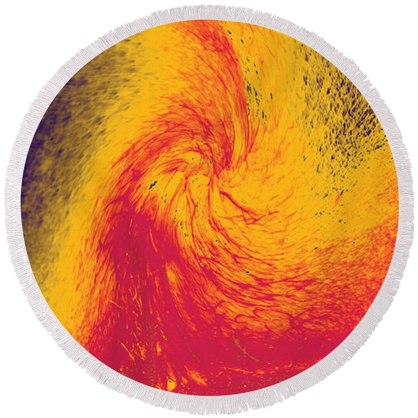 Lava Round Beach Towel featuring the photograph Lava by William Braddock