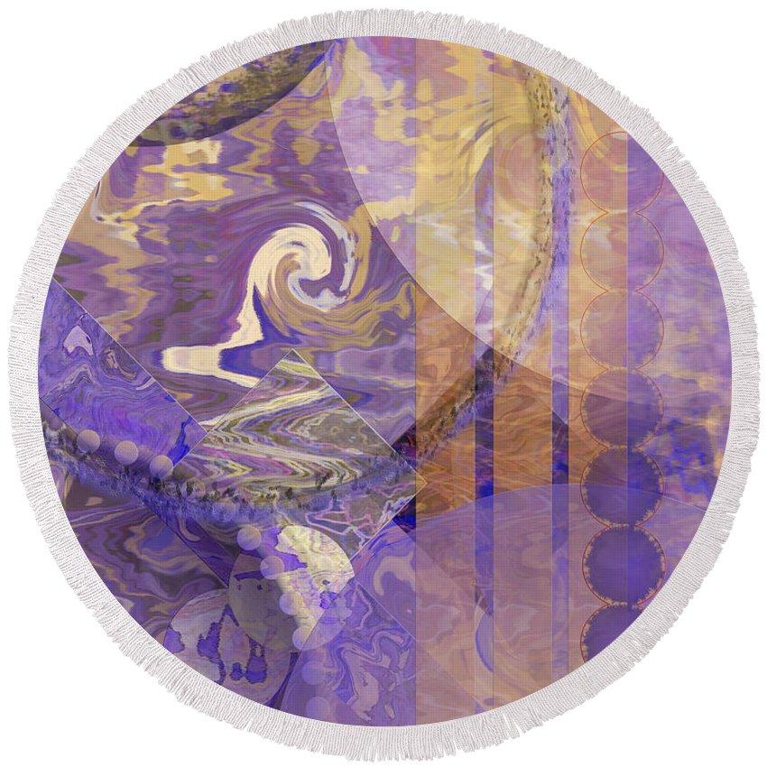 Lunar Impressions Round Beach Towel featuring the digital art Lunar Impressions by John Robert Beck