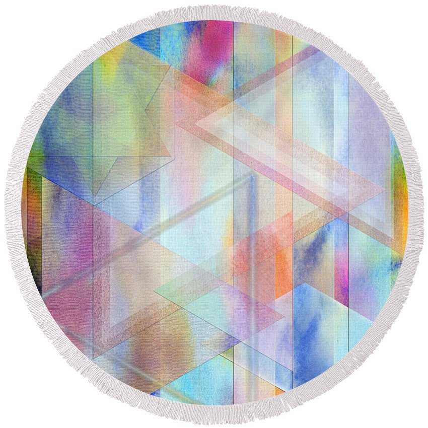 Pastoral Moment Round Beach Towel featuring the digital art Pastoral Moment by John Robert Beck