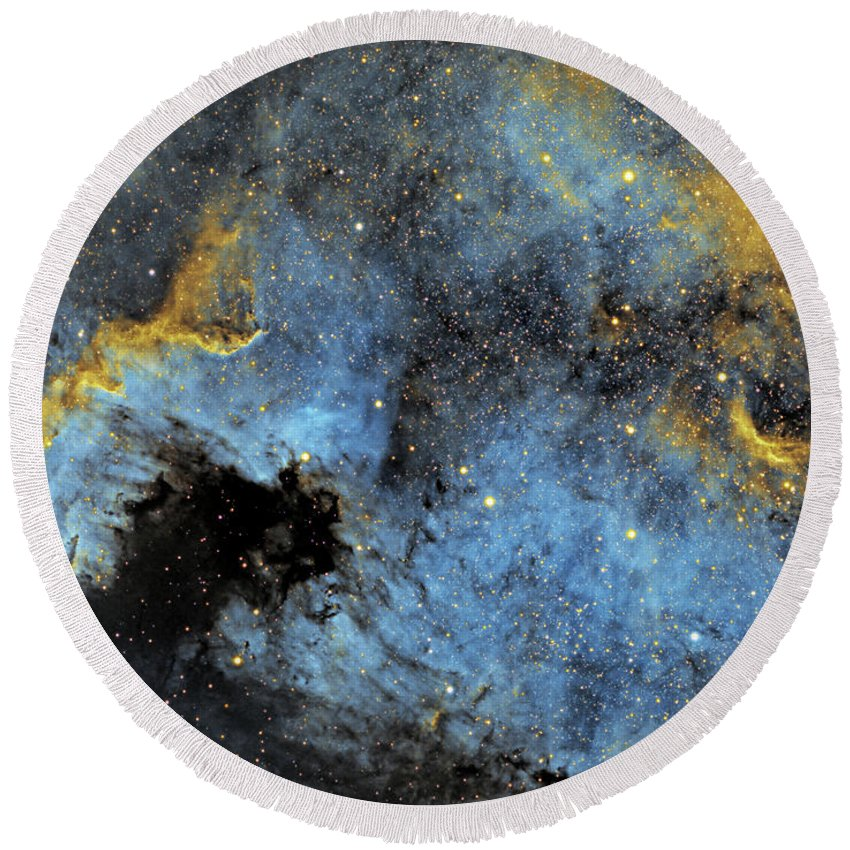 Nebula Round Beach Towel featuring the photograph The North America Nebula by Prabhu Astrophotography