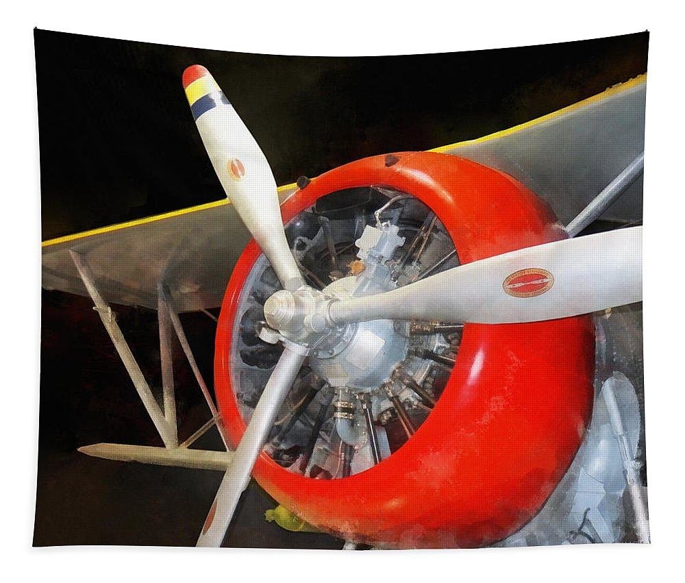 Steampunk Tapestry featuring the photograph Airplane - F3f-2 Biplane by Susan Savad