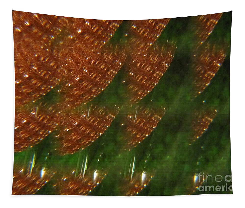 Sea Glass Tapestry featuring the photograph Brilliant Green Abstract 2 by Tara Shalton