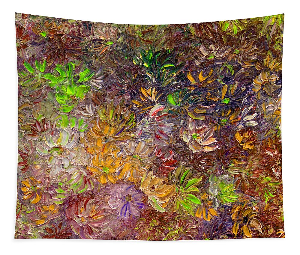 Green Abstract Tapestry featuring the painting My Pretty Green Pallet by Karin Dawn Kelshall- Best