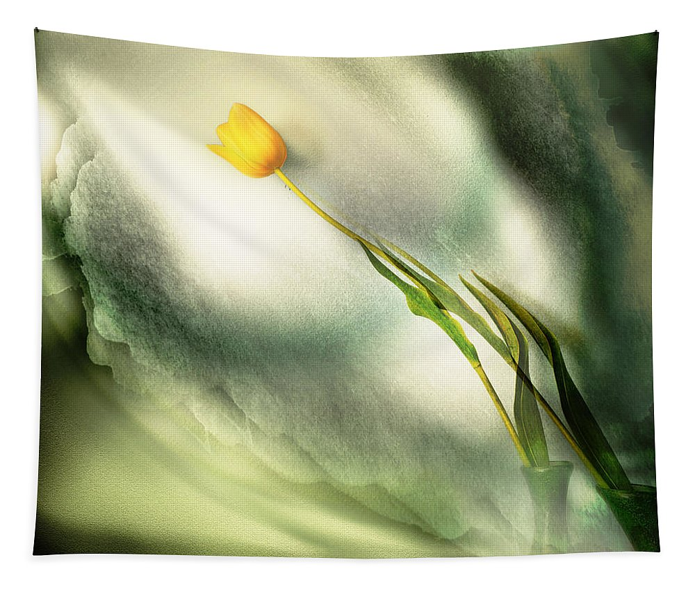 Flowers Tapestry featuring the photograph Reflection by John Anderson