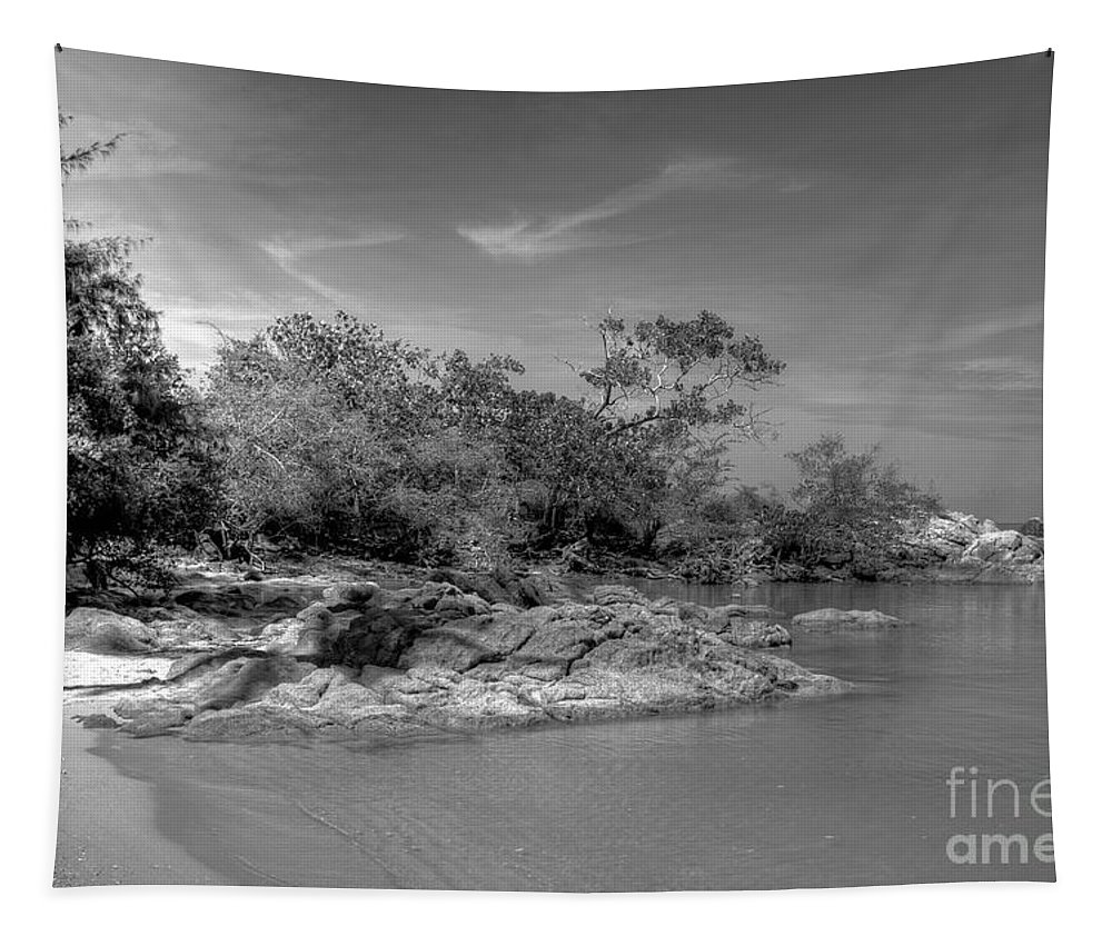 Michelle Meenawong Tapestry featuring the photograph Rocky Island by Michelle Meenawong