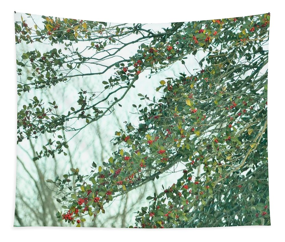 Rubies Of Nature Tapestry featuring the photograph Spring Drops by Sonali Gangane