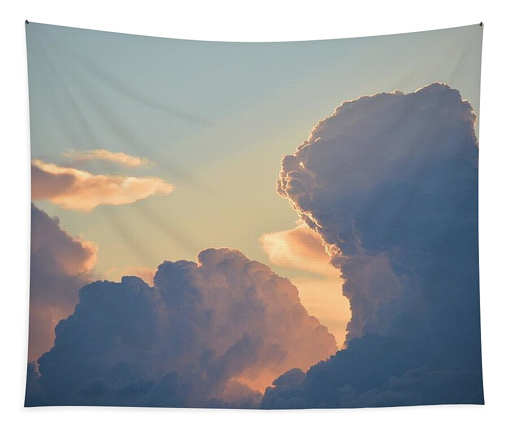 Clouds Tapestry featuring the photograph Thunder Struck by Bonfire Photography