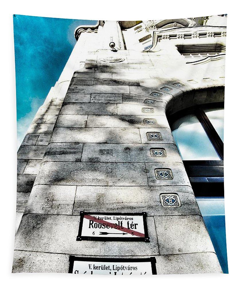 Changes Tapestry featuring the photograph Way The Wind Blows - Four Season Hotel Budapest Hungary by Marianna Mills
