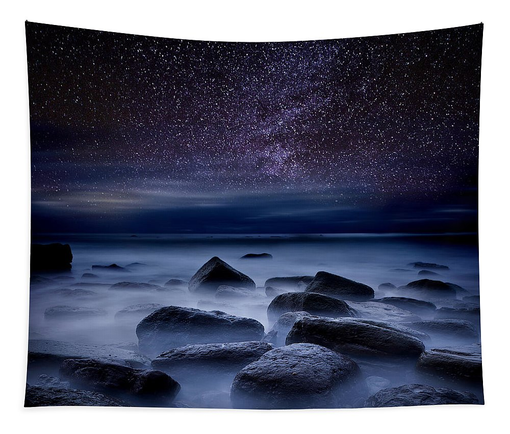 Night Tapestry featuring the photograph Where dreams begin by Jorge Maia