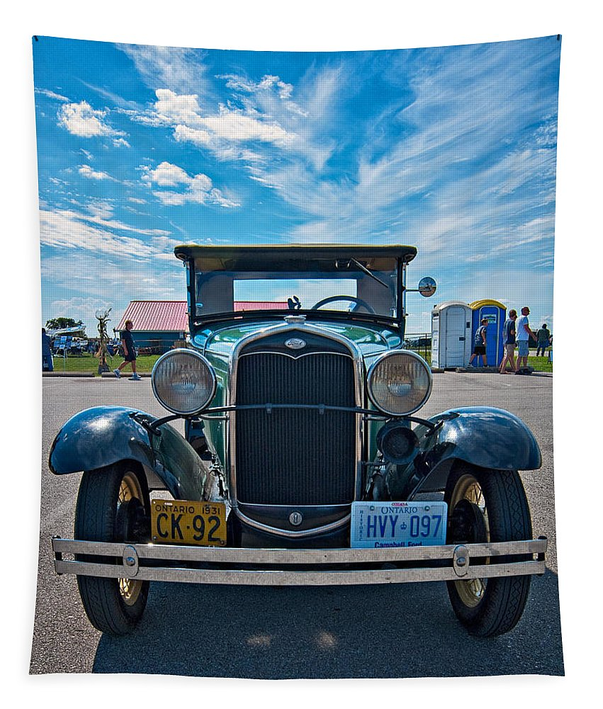 Ford Tapestry featuring the photograph 1931 Model T Ford by Steve Harrington