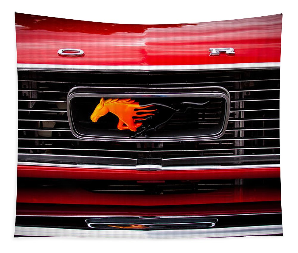 1966 Ford Mustang Tapestry featuring the photograph 1966 Ford Mustang by David Patterson