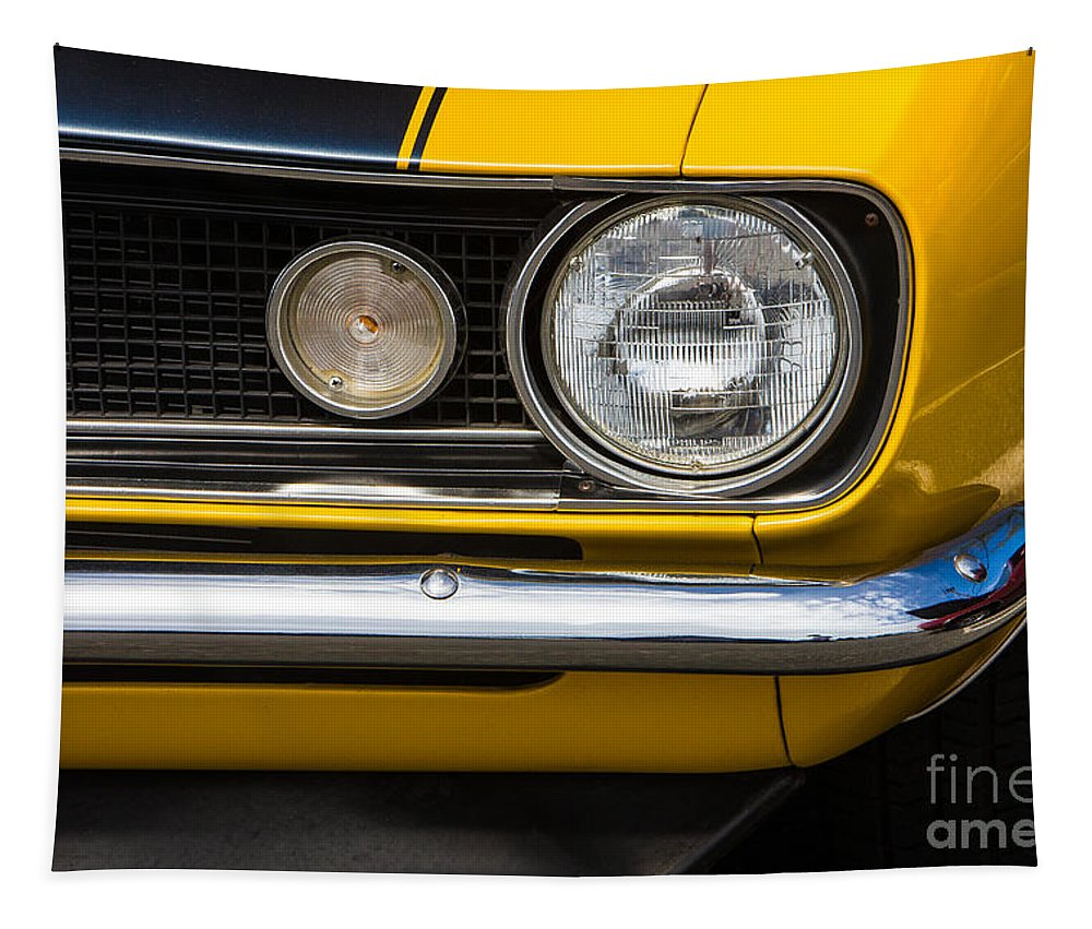 1967 Camaro Tapestry featuring the photograph 1967 Camaro Headlight by Jerry Fornarotto