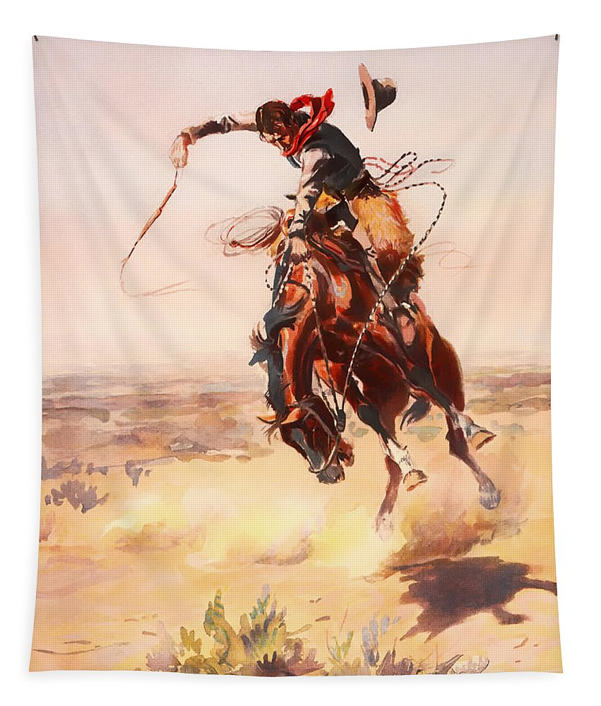 Painting Tapestry featuring the painting A Bad Hoss by Mountain Dreams