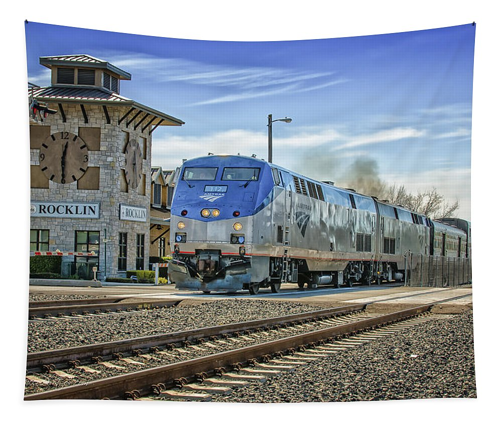 Amtrak Tapestry featuring the photograph Amtrak 112 by Jim Thompson